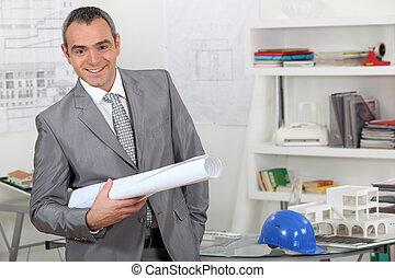 architecture, firme, directeur