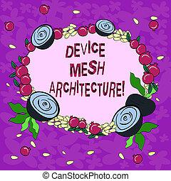 architecture., foto, kranz, vorrichtung, technologie, koordination, pomegranate., winzig, schreibende, arbeitsbühne, digital, begrifflich, geschaeftswelt, ausstellung, hand, klein, masche, blumen-, gemacht, samen, glänzend, showcasing
