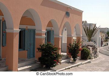 architecture grecque, île