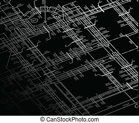 Architecture house plan background. Vector