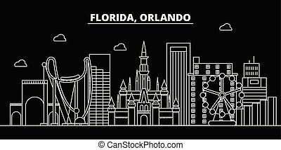architecture, illustration, -, silhouette, vecteur, bannière...