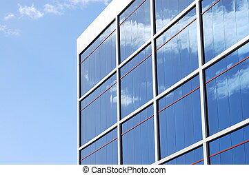 Architecture image of a modern office building with copy space