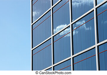 Architecture Image of a Shiny Modern Office Building With Copy Space