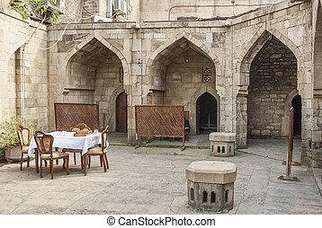 architecture in baku azerbaijan caravanserai restaurant