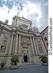 Architecture in Piazza Colonna, Rome, Italy