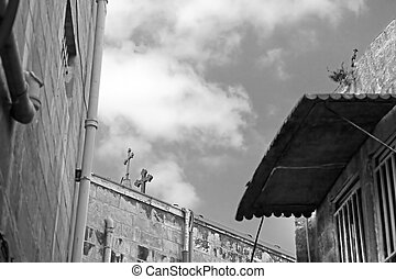 Architecture in The Old City (Christian Quarter) of Jerusalem, Israel