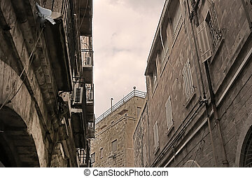 Architecture in The Old City of Jerusalem, Israel
