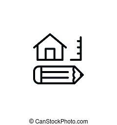 Blueprint architecture design development icon vector illustration architecture line icon malvernweather Images