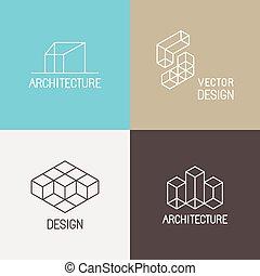 Architecture logos - Vector set of logo design templates in...