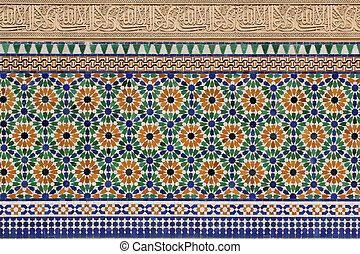 architecture, marocain,  détails