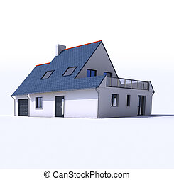 Architecture model, house c
