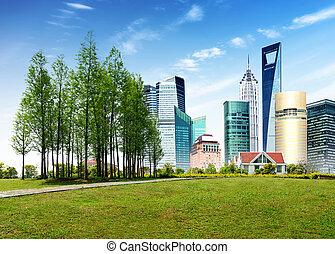 architecture moderne, parcs