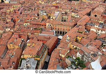 architecture of Bologna historic center
