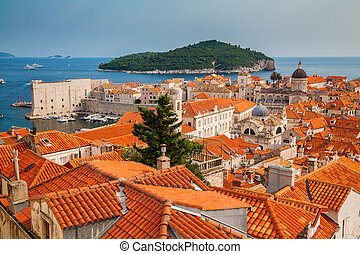 architecture of Dubrovnik Old town and Lokrum island