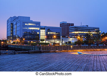 Architecture of Halifax at sunrise