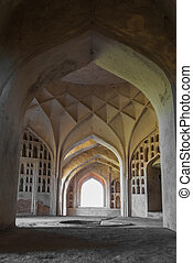 Architecture of historic Golconda fort in Hyderabad, India