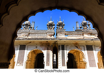 Architecture of historic Paigah tombs in Hyderabad, India