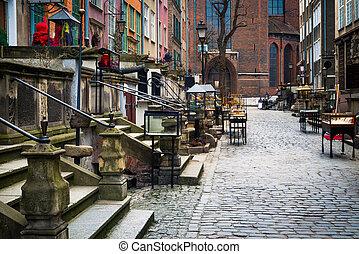 Mariacka street in Gdansk