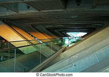 Architecture of modern train station
