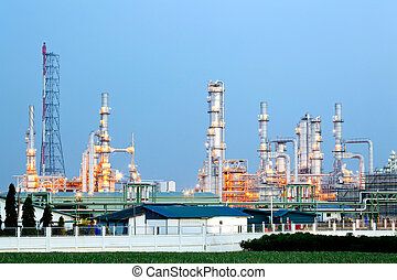 Oil Refinery Plant - Architecture of Oil Refinery Plant with...