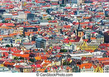 Architecture of Prague, Czech Republic - Scenic summer...