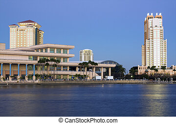 Architecture of Tampa seen late afternoon.