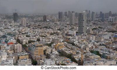 Architecture of Tel Aviv. Daytime cityscape, Israel -...