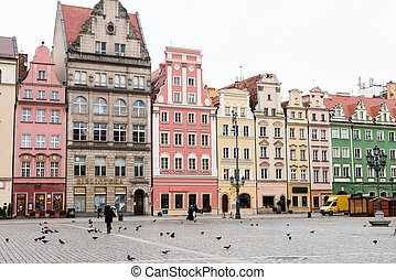 architecture of the city of Wroclaw