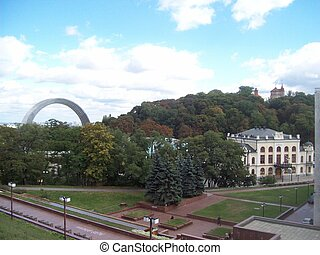 Architecture of the old city of Kiev Ukraine