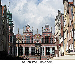 Architecture of the old town in Gdansk, Poland.