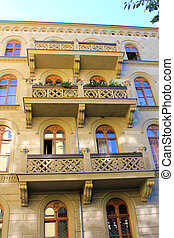 Architecture of Wroclaw, Poland, Europe. City centre, Old, historical tenements. Lower Silesia, Europe.