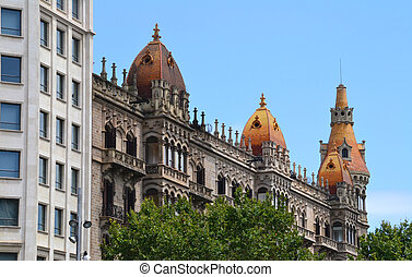Architecture on Barcelona, Spain