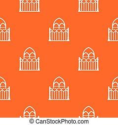 Architecture pattern vector orange
