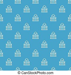Architecture pattern vector seamless blue