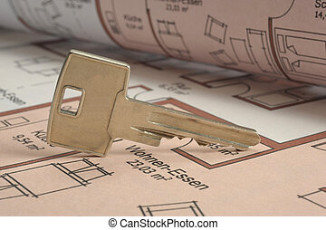 architecture plan and key