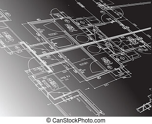 architecture plan guide illustration design graphic over a...