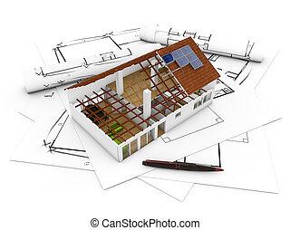 architecture,  plan