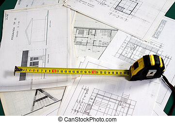 Architecture planning - Arch planning with dimensions and...