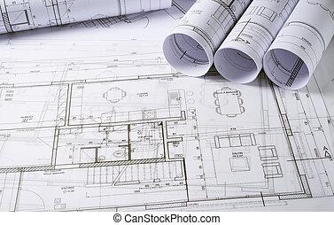 architecture,  plans