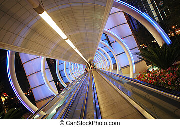 architecture., sidewalk., em movimento, túnel, futurista