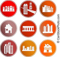 architecture sign icons - collection of architectural sign...