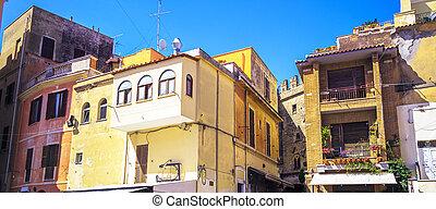architecture., stilig, stuga, italiensk
