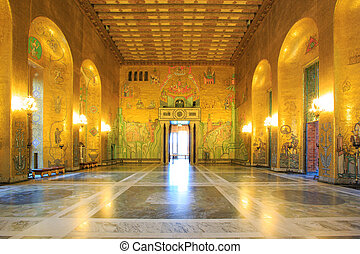 Stockholm City Hall ballroom - Architecture Stockholm City...