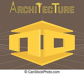 Architecture studio vector logo template. - Architecture...