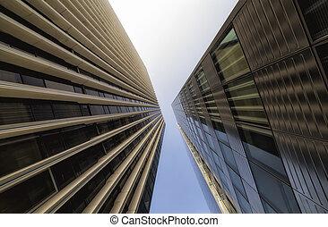 architecture., vida cidade, modernos, detalhe