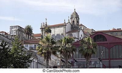 architecture., vieux, oporto