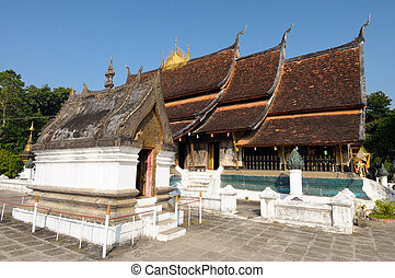 Architecture Wat Xieng Thong in Luang Prabang, Laos