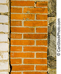 Architecture white red brick stone wall background