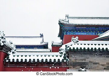 architectures's, linha, antiga, telhado