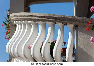 architectuur, balkon